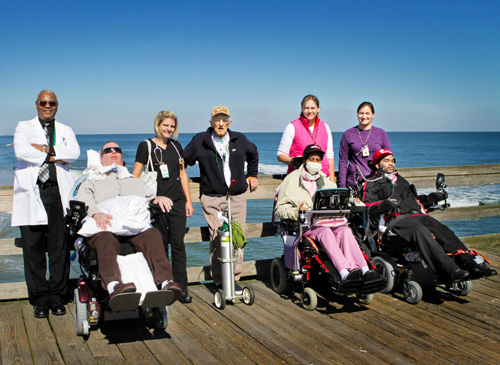 Lake Taylor residents visit the Virginia Beach oceanfront