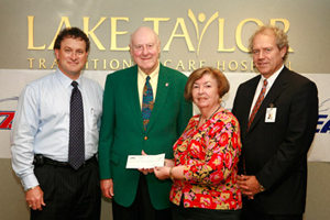 Eagle 97.3 recently presented Lake Taylor Transitional Care Hospital with a check for $1750.00.