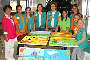 Local Girl Scout troop adds a splash of color to Lake Taylor