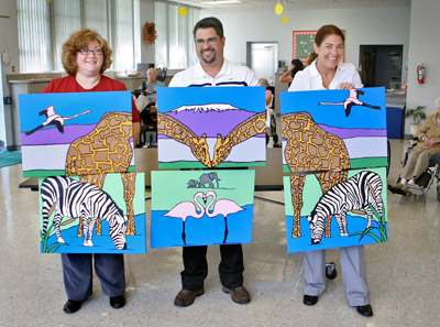 GE Energy Presents Mural To Lake Taylor