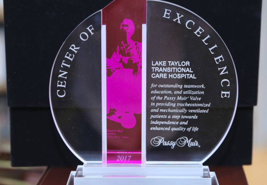 "Lake Taylor Respiratory Unit Earns International ""Center Of Excellence"" Designation"