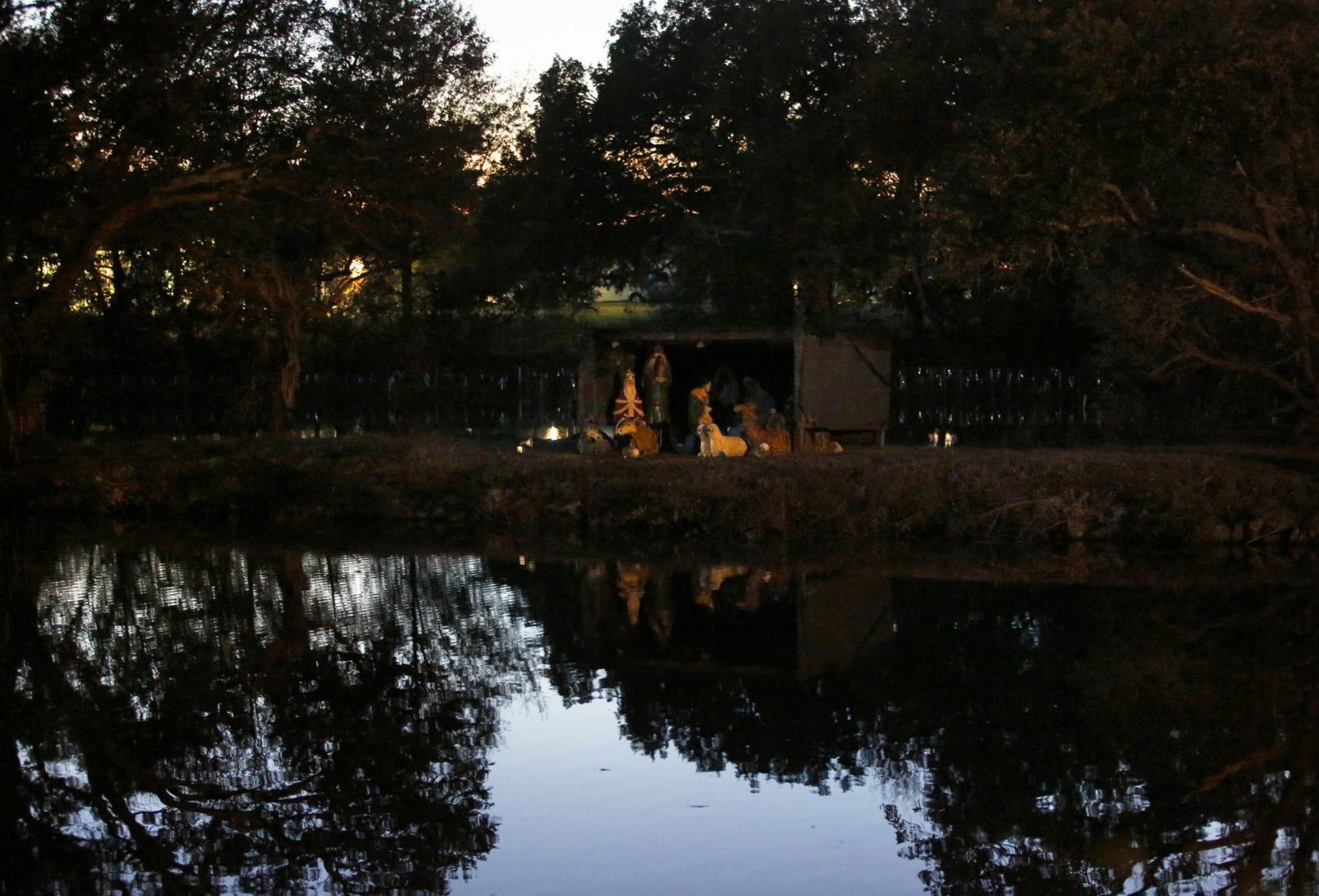 Every year, someone sets up a nativity scene in a Norfolk lake. Who's doing it, and why?