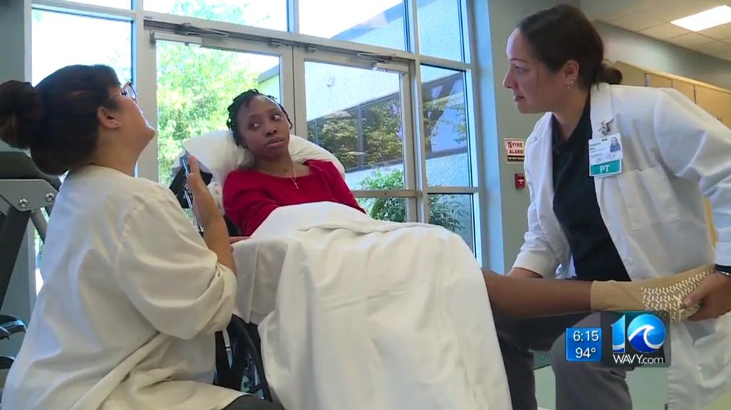 Lake Taylor Rehab Helping Local Woman to Walk Again