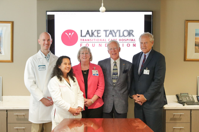 Dr. Jerry McQuain, Lake Taylor's new Hospice & Palliative Care Fellow