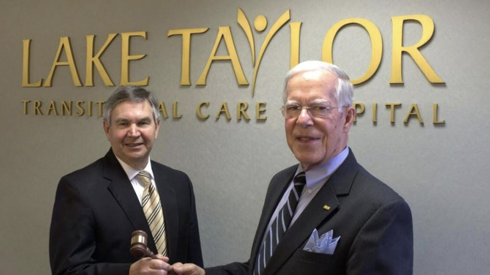 New Lake Taylor Foundation Board Chairman